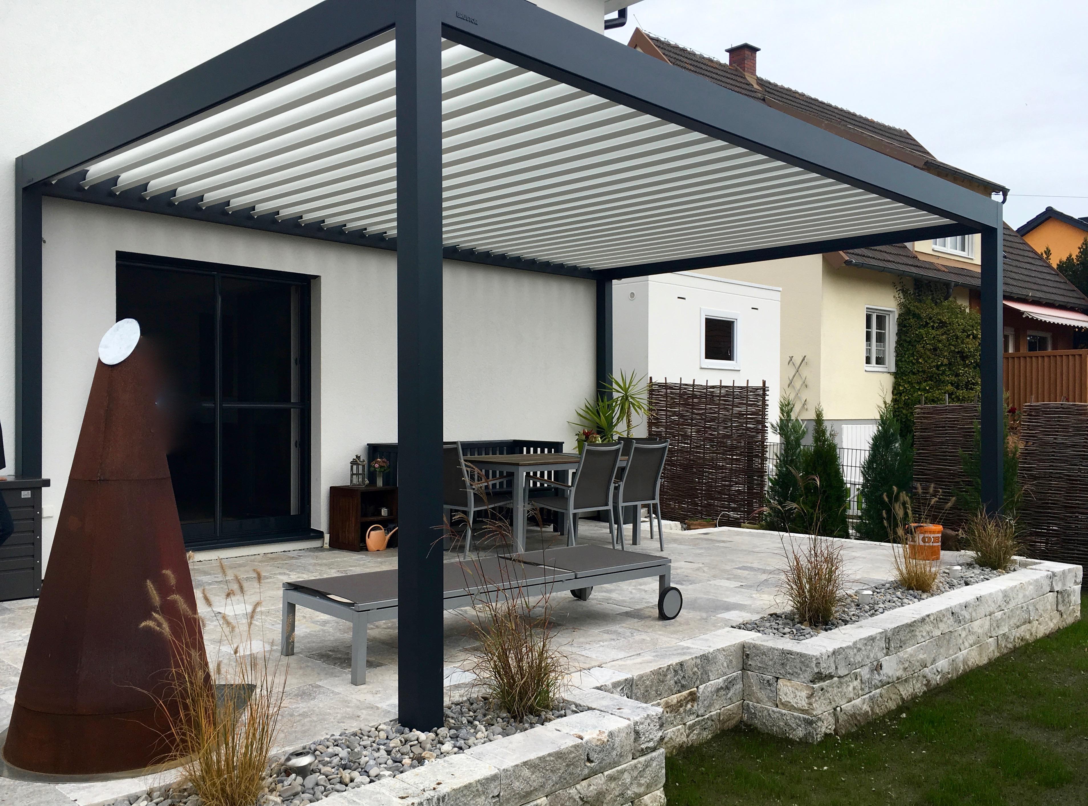 lamellendach b150 kleine lamellen und aufgesetzte. Black Bedroom Furniture Sets. Home Design Ideas