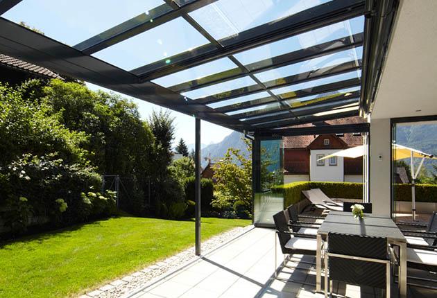 Terrassendach Glashaus Solarlux